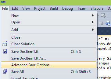 T4 Transform file problems during Code Gen