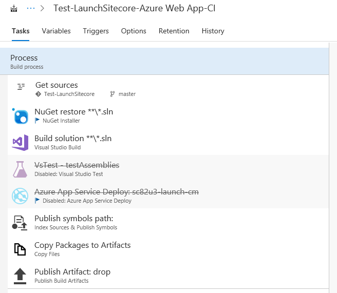 Visual Studio Build Settings