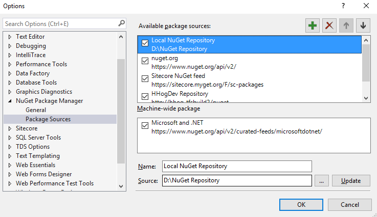 Use the Source textbox to paste the path to the folder and enter the name for the new repository