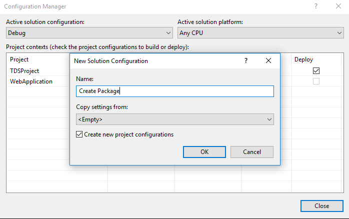 TDS Classic Builds on Jenkins Build Server with NuGet Packages