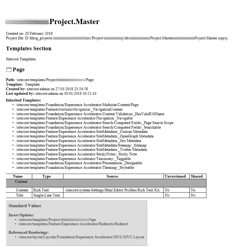 Screen shot of project master