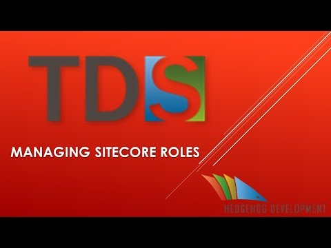 Youtube video - a first look at Managing Sitecore Roles in TDS
