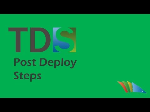 Post Deploy Steps allows users to tell TDS to form an action after the project is deployed or the update package has been installed