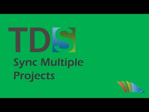 Improve workflow in solutions with a large number of TDS projects with Sync Multiple Projects