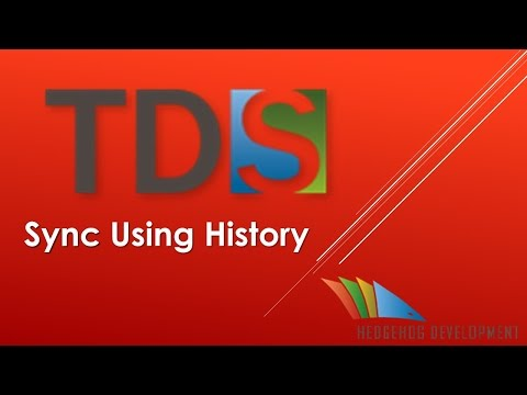 Youtube video on Sync Using History in TDS